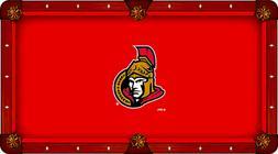 Ottawa Senators Holland Bar Stool Co. Red Billiard Pool Tabl