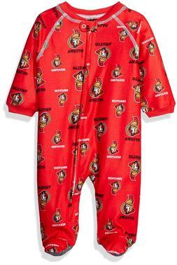 NHL Ottawa Senators Newborn Boys Sleepwear All Over Print Zi