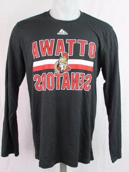 Ottawa Senators NHL adidas Black Climalite Men's Long Sleeve