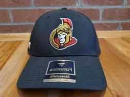 Ottawa Senators NHL Black Flex Fit Hat Cap Adult Men's M/L
