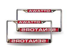 Ottawa Senators NHL Chrome Metal  Laser Cut License Plate Fr