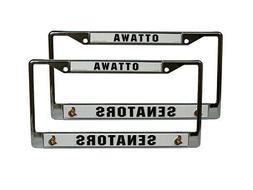Ottawa Senators NHL Chrome Metal License Plate Frame - Set o