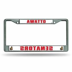 Ottawa Senators NHL Chrome Metal License Plate Frame