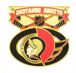 ottawa senators nhl face off logo pin