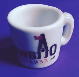 OTTAWA SENATORS NHL HOCKEY MINITURE COFFEE MUG • COOL VINT
