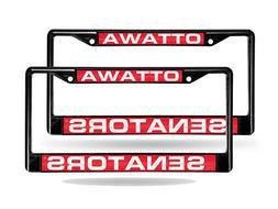 Ottawa Senators NHL Laser Cut Black License Plate Frame