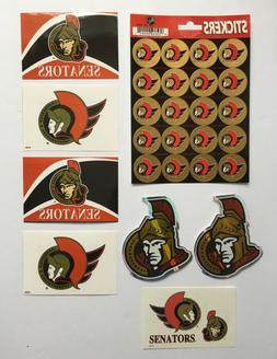 ottawa senators nhl lot of decals stickers