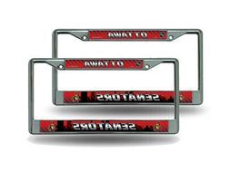 Ottawa Senators NHL  Chrome Metal License Plate Frames