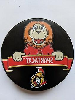 "OTTAWA SENATORS Official MASCOT Souvenir Hockey Puck  ""SPART"