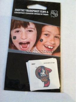 Ottawa Senators Pack of 4 Temporary Tattoos