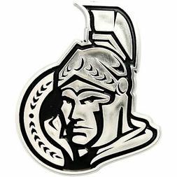 Ottawa Senators Premium Solid Metal Chrome Auto Emblem Raise