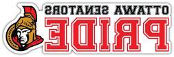 "Ottawa Senators Pride NHL Sport Car Bumper Sticker Decal - """