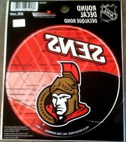 """Ottawa Senators PV Rico 4"""" Round Flat Vinyl Decal Bumper Sti"""