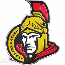 Ottawa Senators Raised 3D COLOR Metal Auto Emblem Home Decal