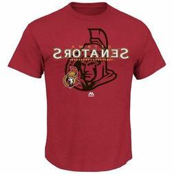 Ottawa Senators Red Heathered Wrist Shot T-Shirt