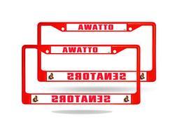 Ottawa Senators Red Painted Chrome Metal  License Plate Fram