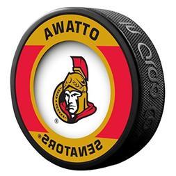 Ottawa Senators Retro Style Souvenir Hockey Puck By Sher-Woo