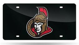 Ottawa Senators SILVER Deluxe Laser Cut Mirrored License Pla