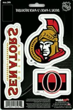 Ottawa Senators Team ProMark Die-Cut Decal Stickers 3Pack