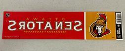 Ottawa Senators Vibrant Official Team Logo Car Bumper Sticke