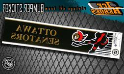 OTTAWA SENATORS Vintage Bumper Sticker - Unused - NOS - NM -