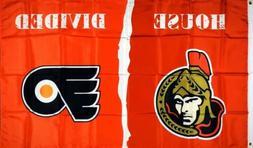 "Ottawa Senators vs Philadelphia Flyers ""House Divided"" FLAG"