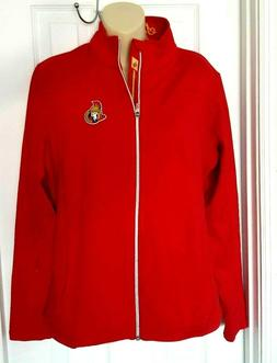 Ottawa Senators Women Jacket Size Large Coat Track Style Waf