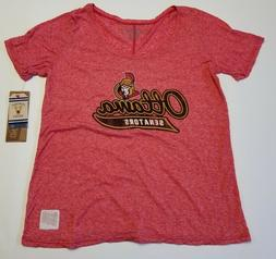 OTTAWA SENATORS WOMENS T SHIRT RETRO BRAND TRI BLEND SCOOP N