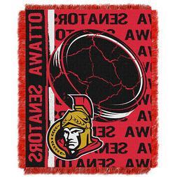 Ottawa Senators Woven Jacquard Tapestry Throw Blanket Spread