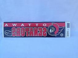 Vintage 91' Ottawa Senators Bumper/Banner Sticker 3x11.5