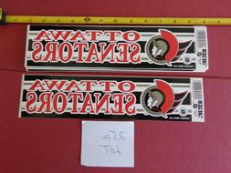 VINTAGE NHL OTTAWA SENATORS HOCKEY BUMPER STICKERS from 80/9